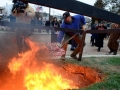 The Iraq Flag retirement funeral pyre